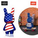 grossiste Figurines & Sclulptures: sculpture crazy  bunny gm usa, 1-fois assorti