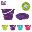 10l bucket retractable round, 4-times assorted