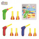wholesale Toys: foam gun launcher  and arrows x2, 3-times asso
