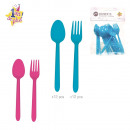 wholesale Houshold & Kitchen: fork and spoon  anniversary x24, 2-times as