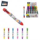 grossiste Stylos et crayons: stylo 8 couleurs, 6-fois assorti