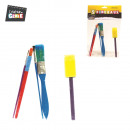 wholesale Garden & DIY store: paint brush x5, 1-times assorted