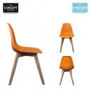 grossiste Maison et habitat: chaise scandinave  coque pp orange, 1-fois assorti