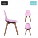 Scandinavian chair pp shell pink, 1-times assorted