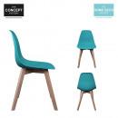 grossiste Meubles: chaise scandinave  coque pp bleue canard, 1-fois as