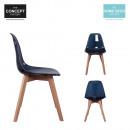 groothandel Home & Living: zwart transparant  Scandinavische stoel, 1-time Ass