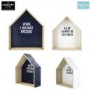 grossiste Maison et habitat: etagere maison a  message x2, 1-fois assorti
