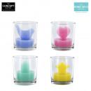 groothandel Kaarsen & standaards: 3d glas kaars, 4-time geassorteerd