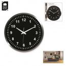 grossiste Horloges & Reveils: horloge alu 45cm  noire, 1-fois assorti