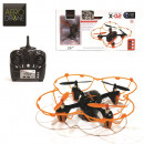 orange drone with camera, 1-times assorted