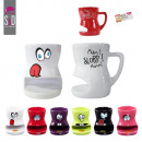 grossiste Maison et cuisine: mug biscuit  ceramique 6  coloris, 6-fois ...