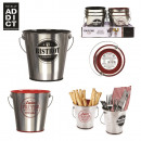 wholesale Houshold & Kitchen: Table metal bucket  10.5x7.6x10.2cm, 2-ass time