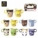 wholesale Houshold & Kitchen: 225ml mug child, 4-times assorted