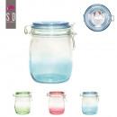 1l glass jar 11x14cm, 3-times assorted