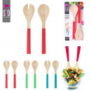 grossiste Fer a repasser: couverts a salade  bambou x2, 3-fois assorti