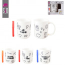 wholesale Cups & Mugs: mug color and has  felt, 3-times assorted