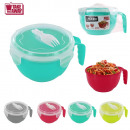 940ml bowl noodles with fork, 4-times assorted