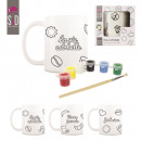 mug to paint, 3-times assorted