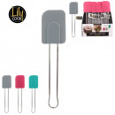 wholesale Garden & DIY store: silicone spatula, 3-times assorted