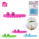 wholesale Garden & DIY store: crocodile clip x4, 3-times assorted