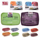 lunch box illustree avec couverts, 8-fois assorti