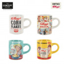 wholesale Cups & Mugs: Coffee espresso  Kellogg's, 4-times assorted