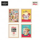 wholesale Home & Living: frame deco  kelloggs, 4-times assorted