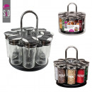 carousel spice 8pots couv plastic, one-time asso