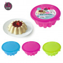wholesale White Goods: 400ml pudding mold with lid, 3-ass time