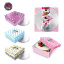 cake box with stand, 3-times assorted