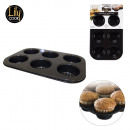 wholesale Microwave & Baking Oven: muffin mold 6  cavities, 1-times assorted