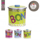 round candy box metal, 3-times assorted