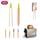 wholesale Garden & DIY store: Magnetic clip  color bamboo, 4-times assorted