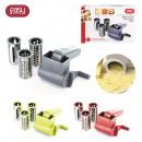 cheese grater mill  has 3 blades, 3-times assorted