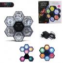 grossiste Ampoules: lampe disco 6  spots 282 leds, 1-fois assorti
