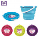 wholesale Household Goods: 10l bucket  retractable round, 4-times assorted