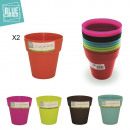 wholesale Garden & DIY store: Cache pot x2, 5-times assorted
