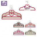 wholesale Laundry: hanger flocked x3, 4-times assorted