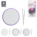 wholesale Drugstore & Beauty: mirror with  tweezers, 3-times assorted