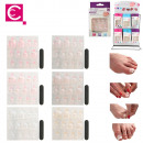 wholesale Manicure & Pedicure: false nails feet  self-adhesive x12, 6-times assort