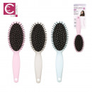 wholesale Haircare: pastel hair brush, 3-times assorted