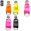 wholesale Kids Vehicles: fluo shopping  trolley, 4-times assorted
