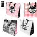 shopping bag 40x45x20cm bistro, 3-times assorted