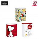 Großhandel Lampen: Hohe Metallkasten  Snoopy, 3-fach sortiert
