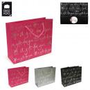 grossiste Emballage cadeau: sac cadeau  20x25x8cm, 3-fois assorti