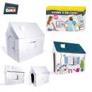 groothandel Stationery & Gifts: huis kleuring  50x50cm, 1-time geassorteerd