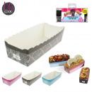 grossiste Cadeaux et papeterie: caissette de  cuisson cake x6, 3-fois assorti