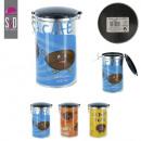 boite een metalen koffie 10.8x19cm 3 kleuren, 3-as