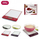 grossiste Appareils de cuisine: balance digitale  slim verre ronde ou rectangle, 4-