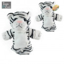 wholesale Headgear: plush white tiger  puppet, 1-times assorted